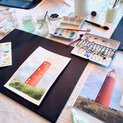 Private Lesson - Lighthouse & sky
