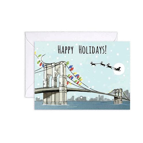 Brooklyn Bridge Holiday Card