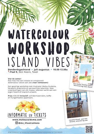 Watercolour Workshop Texel - Malou Zuide