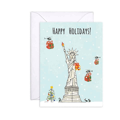 Lady Liberty Holiday Card