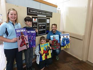 Little Hero Comic drawing winners