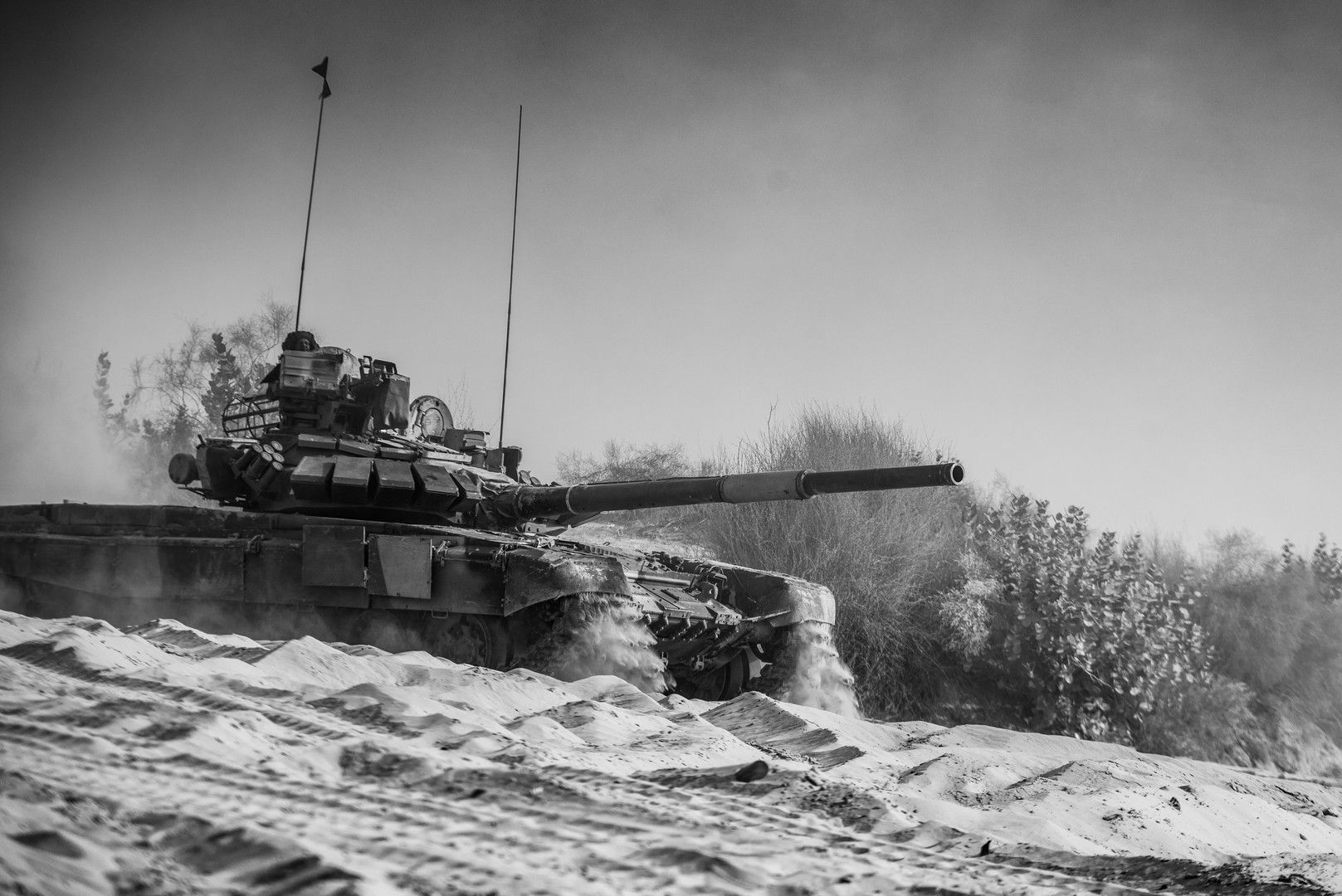 T-90 Tank on the move