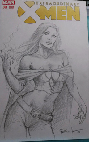 Emma Frost Blank commission