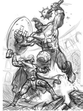 Planet Hulk vs Thor