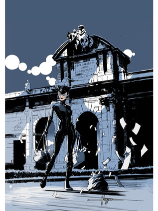 """Catwoman 14x20"""" Giclee"""