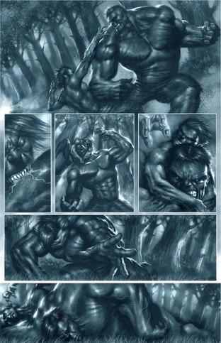 Hulk vs Warewolf