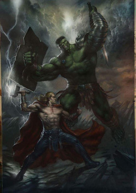Lucio Parrillo Hulk vs Thor Painting.jpg