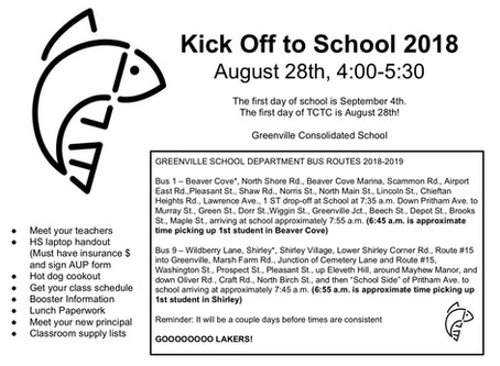 Kick Off to School Returns for 2018