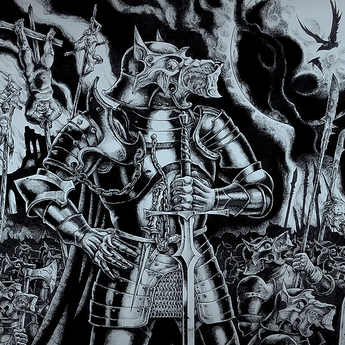 Absurd (DEU) / Pantheon (USA) – Wolfskrieger / Galdur Vikodlaks LP