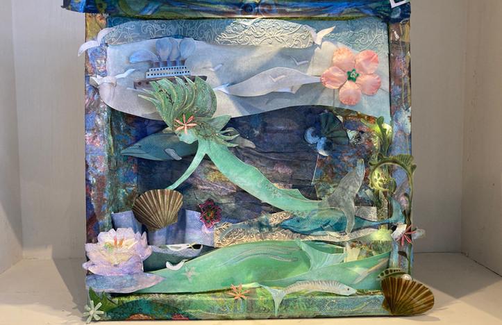 Schachtel-Geschichte Meerjungfrau