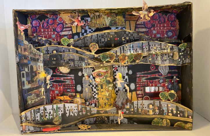 Schachtel-Geschichte Hundertwasser