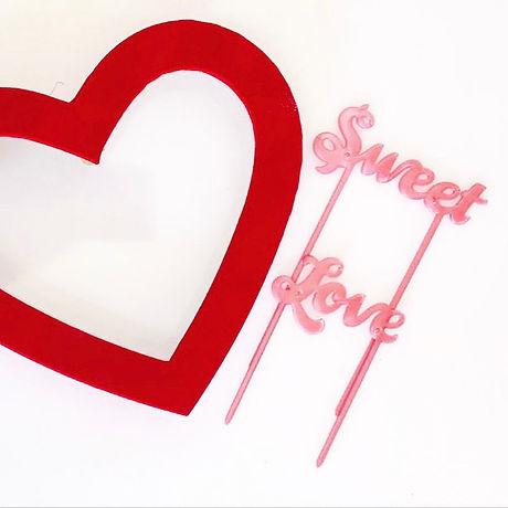Cake topper Sweet Love