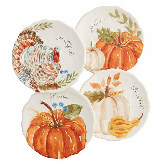 Pumpkin Turkey Salad Plates