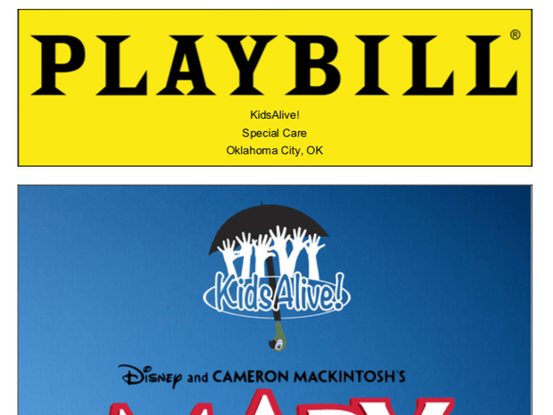 See our Playbill