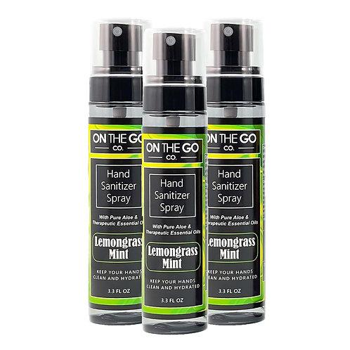 Set of 3 : Lemongrass Mint Hand Sanitizer Spray's