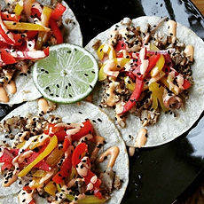 Come for lunch and try our Asian tacos..