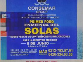 Primer Foro Enmiendas del SOLAS sobre pesaje de Contenedores e Implicaciones para la Industria Marít