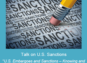 Talk on U.S. Sanctions