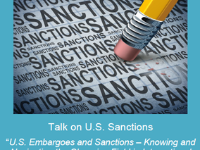 Talk on U.S. Sanctions