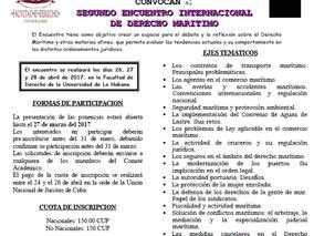 SEGUNDO ENCUENTRO INTERNACIONAL DE DERECHO MARITIMO