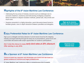 8th Asian Maritime Law Conference