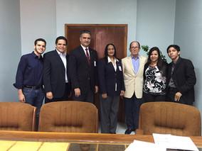 VISITA A LAS AUTORIDADES DE LA  UNIVERSIDAD PRIVADA DR. RAFAEL BELLOSO CHACÍN (URBE)