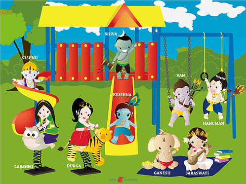 Krishna & Friends Puzzle