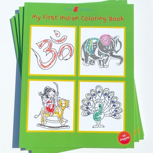 My First Indian Coloring Book