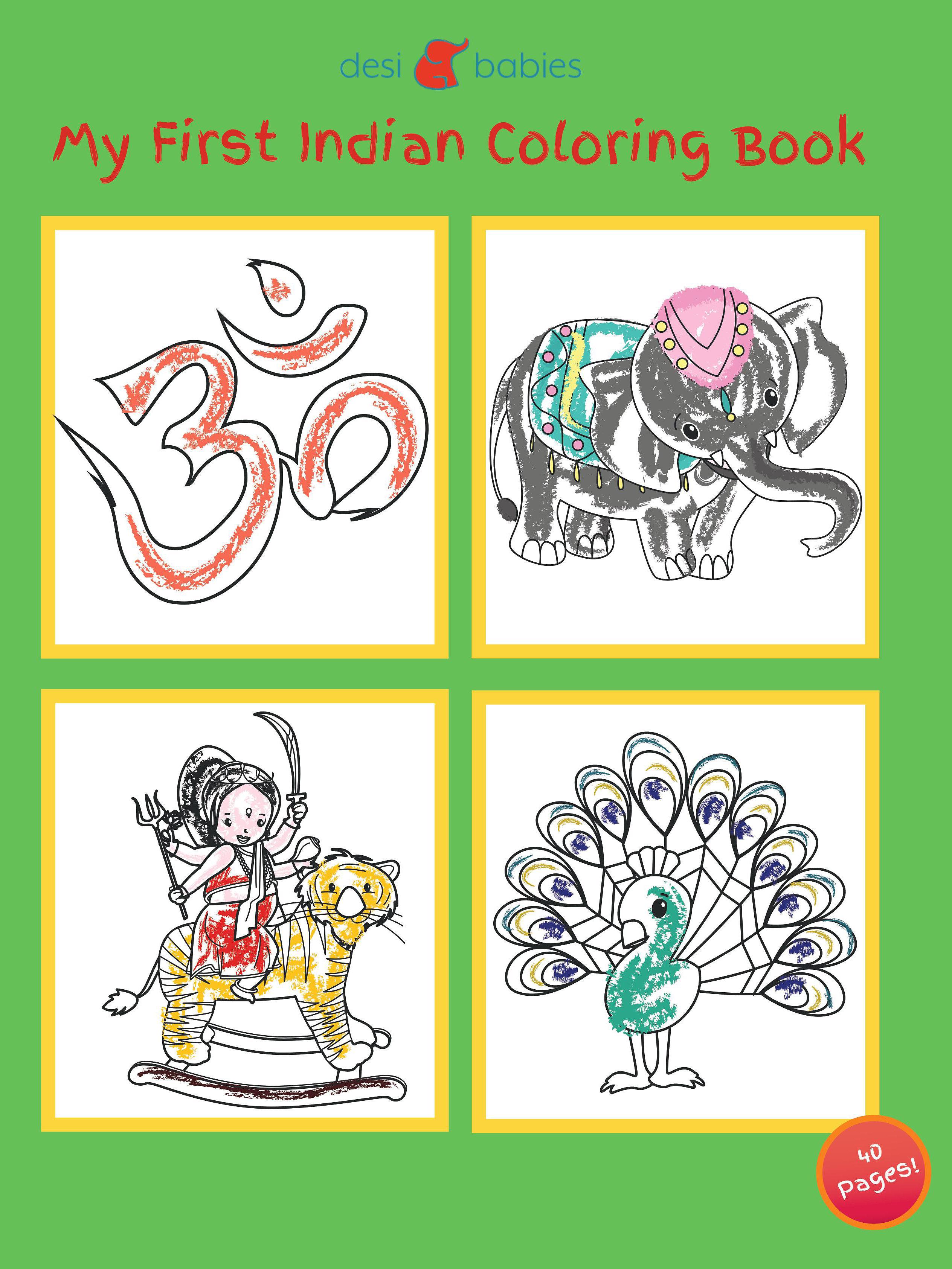 Introduce Your Child To Their Indian Heritage And Culture Through The Drawings In This Coloring Book