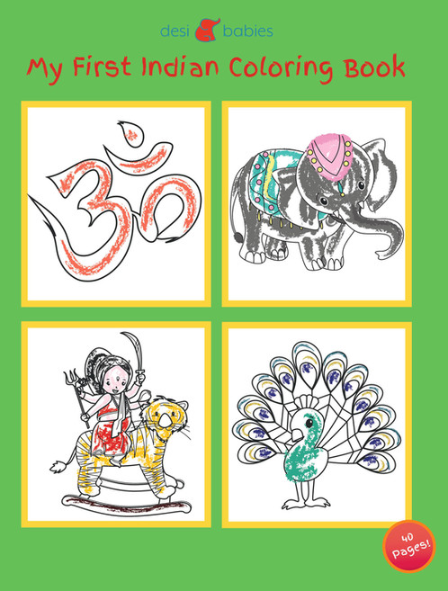 My First Indian Coloring Book | Desi Babies | Kids books and more