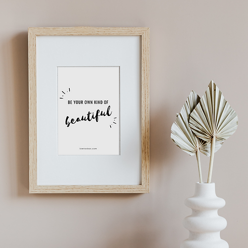 Selection of A5 Positive Quote Print(s) – by LowToxBox