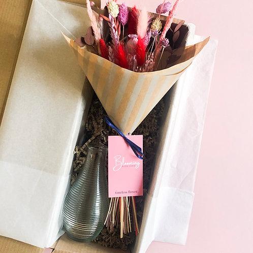 Dried Flower Mini-Posy Bouquet | Colourful