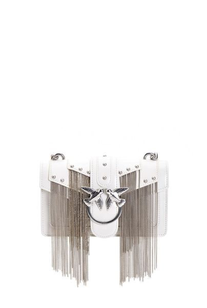 PINKO MINI LOVE BAG METAL FRINGES