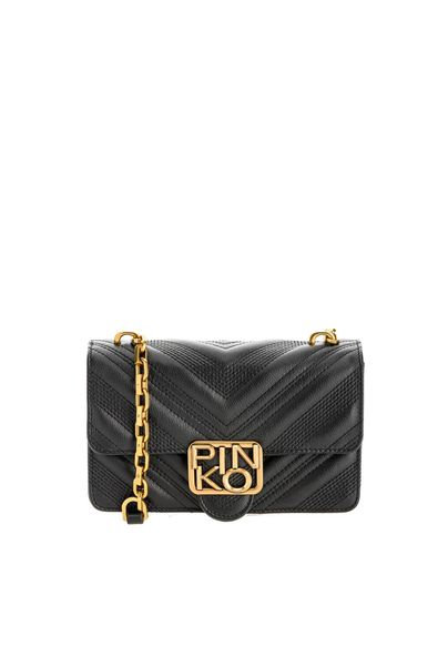 PINKO MINI LOGO BAG ICON CHEVRON