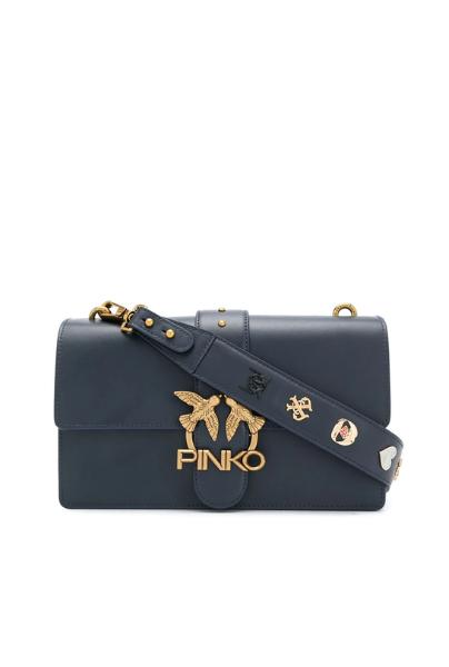 PINKO CLASSIC LOVE BAG ICON SIMPLY С КОЖАНЫМ ПЛЕЧЕВЫМ РЕМНЕМ