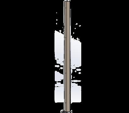 Poteau Intermédiaire 1800mm Coloris Beige Gris