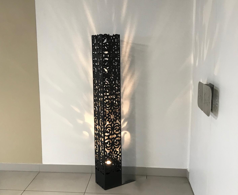 Lampe SQUARE motif NERVURE