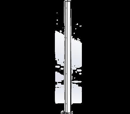Poteau Intermédiaire 1800mm Coloris Blanc Pur
