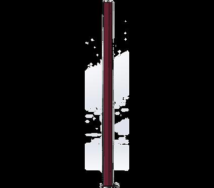 Poteau Gauche 1800mm Coloris Rouge Vin