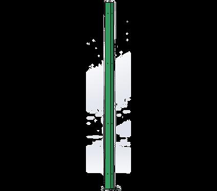 Poteau d'Angle 1800mm Coloris Vert Mai