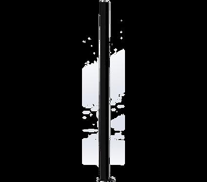 Poteau d'Angle 1500mm Coloris Noir Foncé