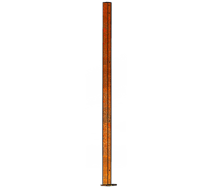 Poteau Gauche 1800mm Coloris Corten