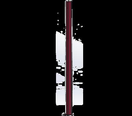 Poteau Droit 1500mm Coloris Rouge Vin