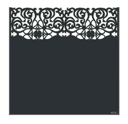 Design ARABESQUE semi-ajouré  1750 x 1800 mm