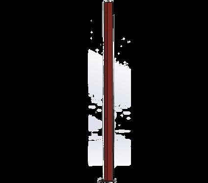 Poteau Droit 1500mm Coloris Rouge Poupre