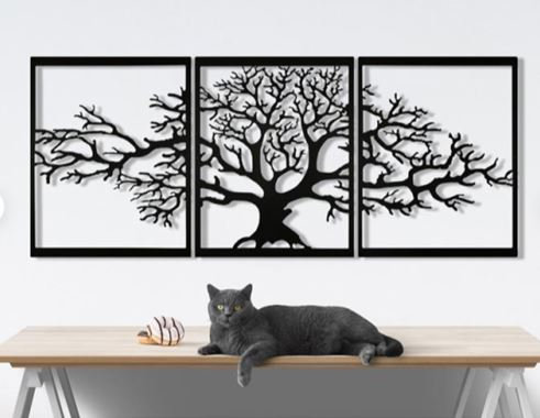 Cadre triptyque arbre