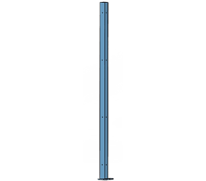 Poteau d'Angle 1800mm Coloris Bleu Pastel