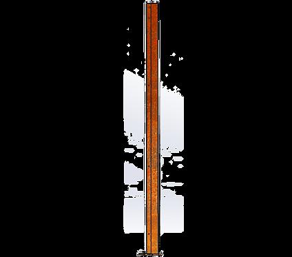 Poteau Droit 1800mm Coloris Corten