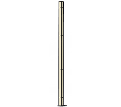 Poteau d'Angle 1800mm Coloris Ivoire Clair