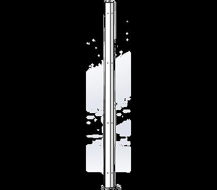 Poteau d'Angle 1800mm Coloris Blanc Pur